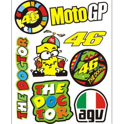Valentino Rossi Moto Adhesivo 46 VR46 Casco Calcomanía Racing MotoGP el Doctor