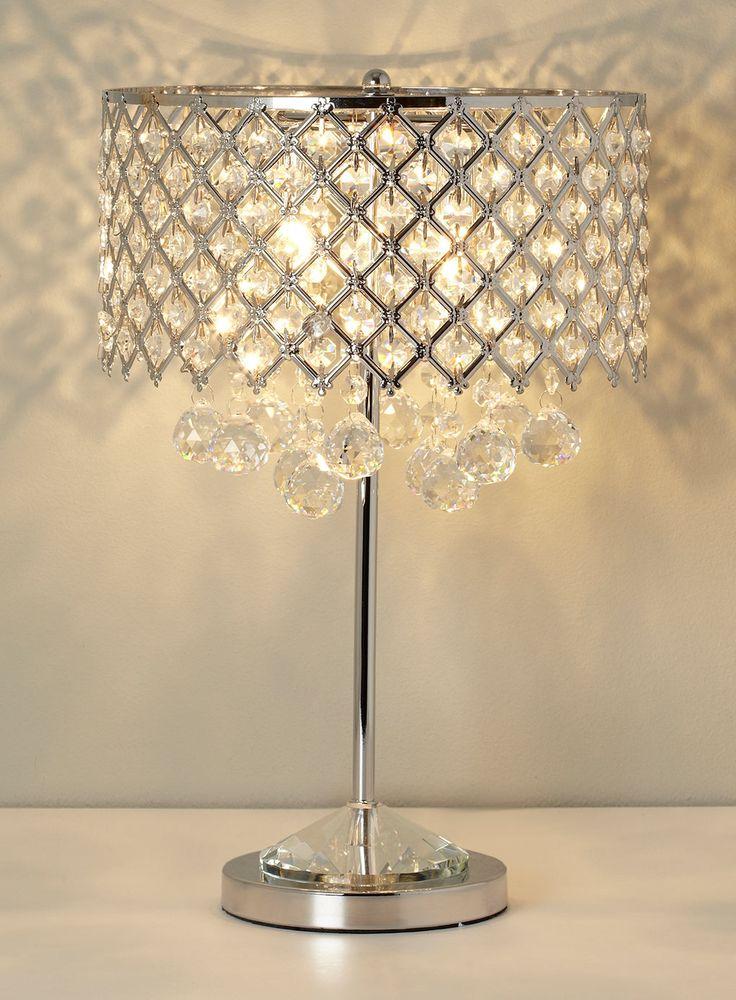 BHS Chrome Petra Table Lamp £80