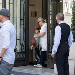 EXCLUSIVE Celine Dion's children spotted leaving the Royal Monceau Hotel in Paris (346250)