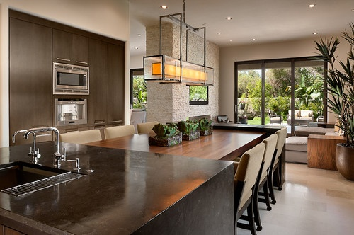 Kitchen Island With Attached Table Design Pictures Remodel Decor And Ideas Page 6 Kitchen