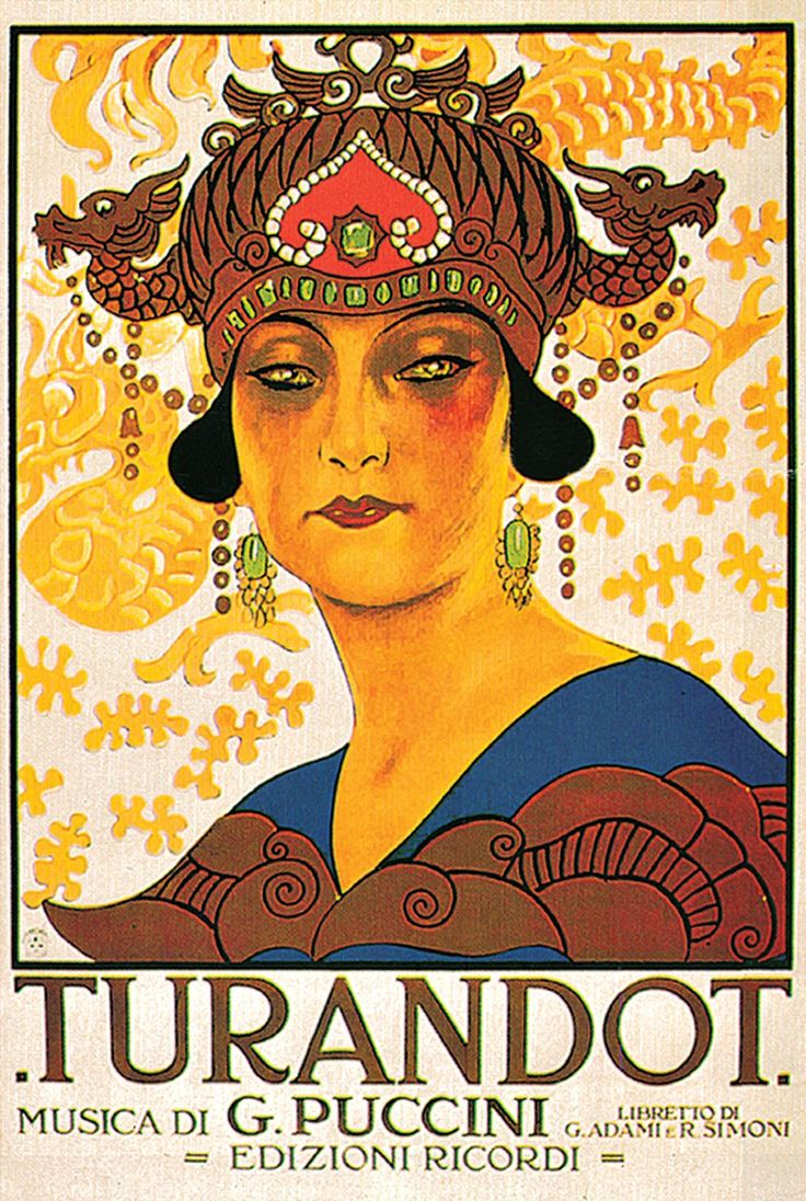 Turandot. Première on April 25, 1926 at Teatro alla Scala in Milan.