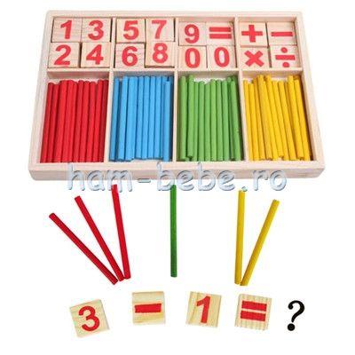 Jucarie Montessori Matematica Invatam sa numaram