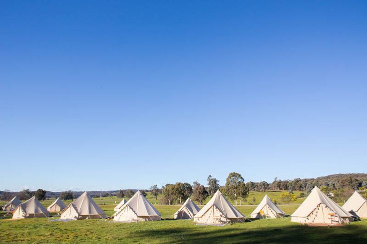 Wedding glamping.   Happy Glamper bell tents on HOORAY! magazine's blog!
