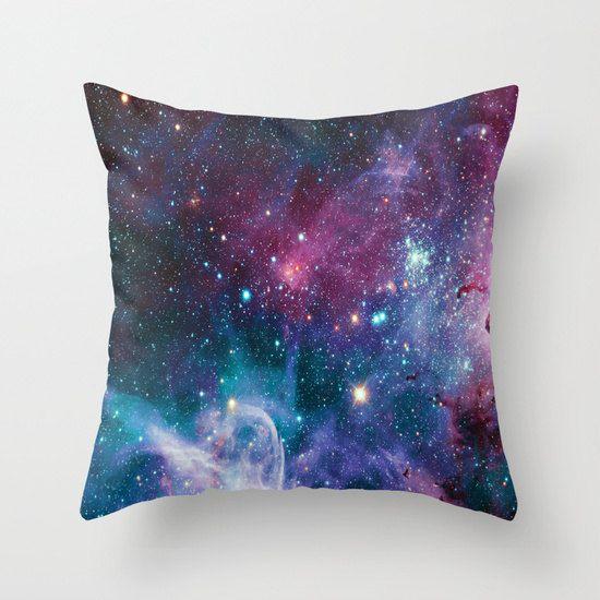 nebula pillow/nebula throw pillows/galaxies by haroulitasDesign