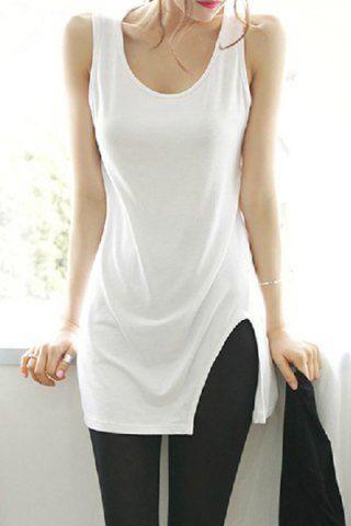Casual Scoop Neck Solid Color Slimming Tank Top For Women Vests & Tank Tops | RoseGal.com Mobile