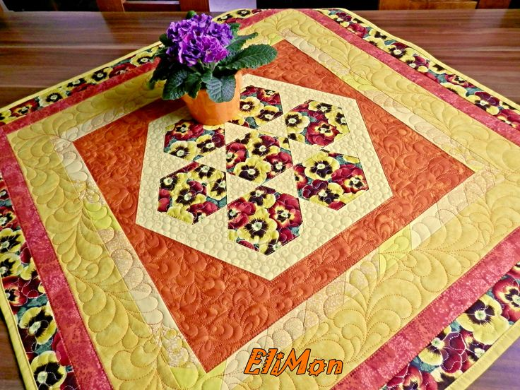 table runner spring patchwork quilt
