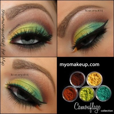 Eyeshadow Pigment Sets - 5 Piece Myo Eyeshadow Pigment Camouflage Set Mica Cosmetic Mineral Makeup Limited Edititon (Powered by CubeCart)
