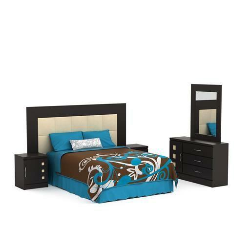 Recámara King Size Quadro de 5 piezas con acabado semimate - Famsa.com®