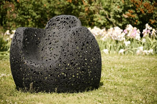 Maffam Freeforms's basalt fiber furniture by Latvian interior designer Raimonds Cirulis  Perfect in- and outdoor chair.