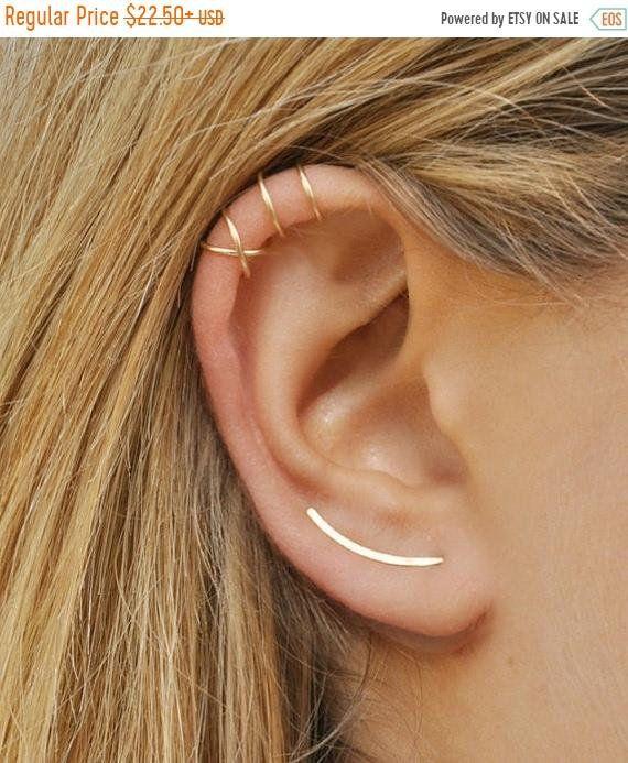 Ear Climbers Brides Gift Earring Ear Pin Ear Cuff Opal Earrings Ear Crawlers White Opal- Ear Climber Gift for Her Ear Cuffs