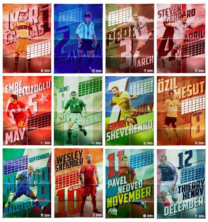 Football calendar 2013 by kareem gouda via behance