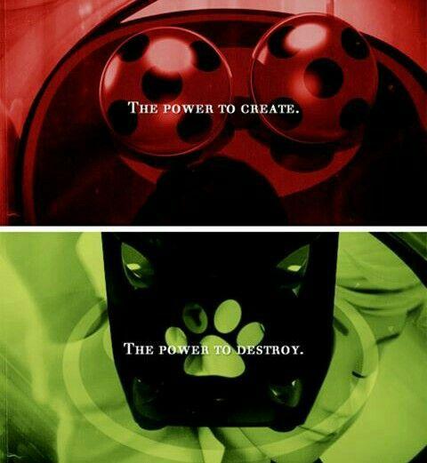 Les miraculous de Ladybug et Chat Noir.