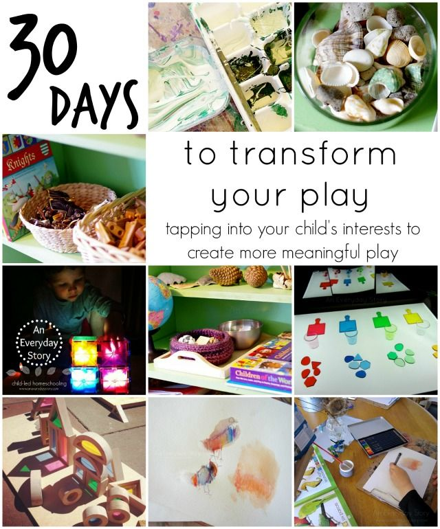 30 Days to Transform Your Play | Reggio Inspired Play at Home - Tapping into your child's interests to create more meaningful play. Take the challenge now.