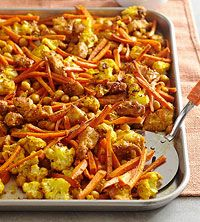 BHG's Newest Recipes:Roasted Indian Chicken, Vegetables, and Chickpeas Recipe