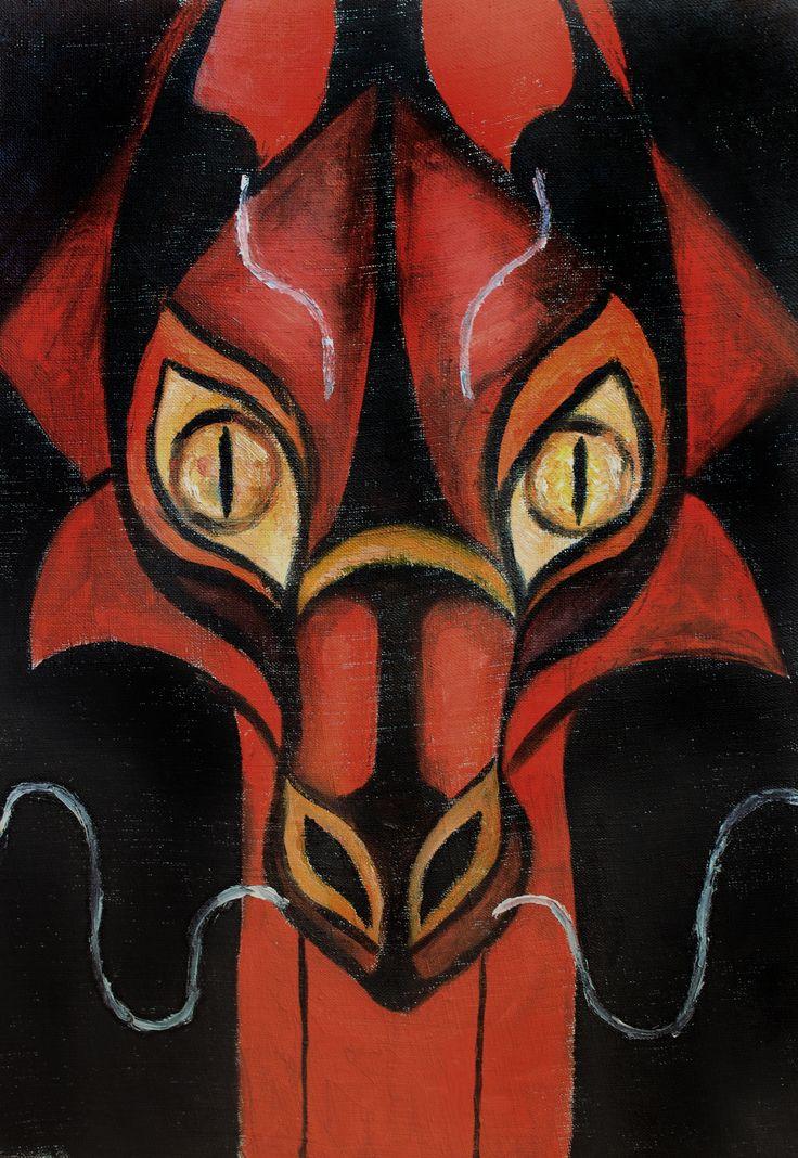 #art #oilpainting #oil #dragon #reddragon #teslimovka #red #fear #sigth #gift #expessive #teslimovka #картинамаслом #дракон #красный дракон #огонь #необычнаякартина #масло #экспрессия #взгляд #страх