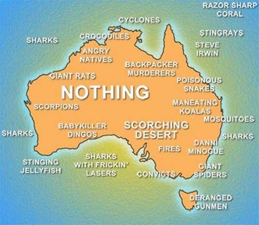 australia | Australia: Not just an island, but a hella scary one too! | The Tizona ...