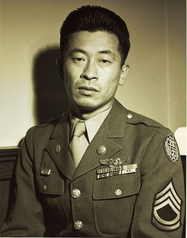 "Ben Kuroki, the only Japanese-American of the US Army to see air combat in the Pacific Theater during World War II. He flew a total of 58 combat missions over Europe and the Pacific during the war and eventually earned three Distinguished Flying Crosses. When asked about the prejudice that almost prevented him from service, Kuroki said: ""I had to fight like hell for the right to fight for my own country."""