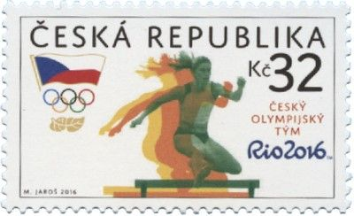 Czech Republic Rio 2016 Olympic stamps
