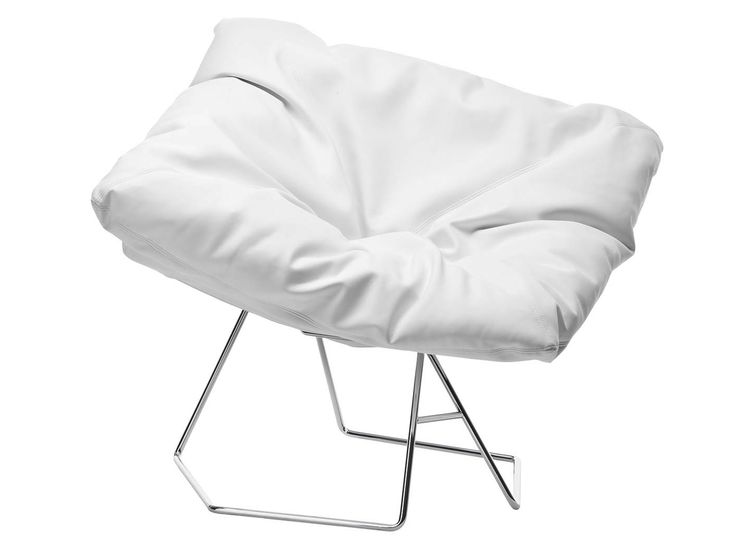Sled base upholstered armchair MASK by Midj | design Area44