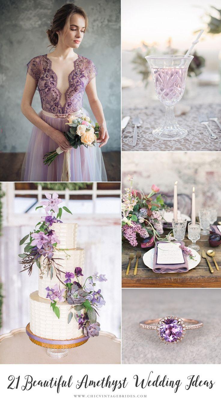 Romantic Amethyst Wedding Ideas
