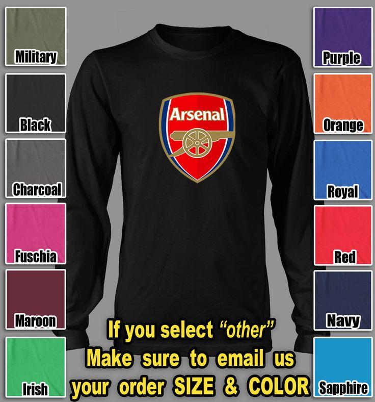 Arsenal Football Club Tshirt English Premier UEFA soccer club Long Sleeve shirts $24.85   5% off @TeesRus