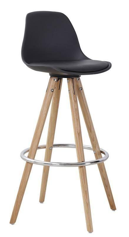 Orso+Barstol+-+Elegant+barstol+i+stilsikkert+nordisk+design.+Barstolen+har+et+sort+plastiksæde+og+ben+i+eg,+som+fuldender+det+naturlige,+enkle+look.+Det+buede+ryglæn+og+den+praktiske+fodstøtte+sørger+for+optimal+komfort.+Perfekt+til+hjemmebaren,+som+spisebordsstol+til+det+høje+spisebord+eller+i+køkkenet+som+ekstra+siddeplads.+Kombiner+med+Orso+barbord+og+fuldfør+det+nordiske+look.