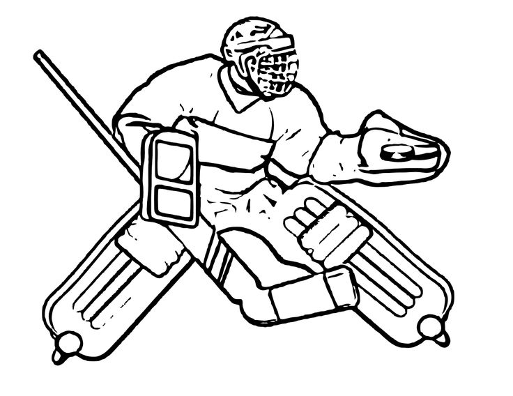 17 best Hockey images on Pinterest Ice hockey, Kids net and - new coloring page of a hockey player