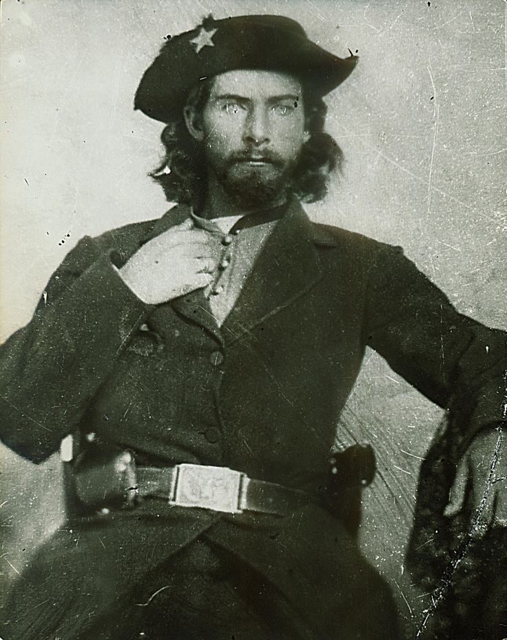 "July 15, 1863 - Confederate raider Bill Anderson and his bushwhackers attacked Huntsville, MO, where they stole $45,000 from the local bank.  A portrait of ""Bloody"" Bill Anderson CREDIT: THE STATE HISTORICAL SOCIETY OF MISSOURI A musical take on Missouri and the Civil War 
