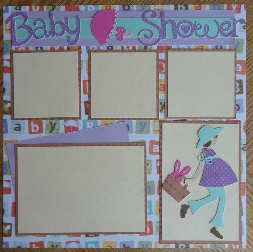 Baby Shower Pre-made Scrapbook Page | BabyBearsCottage - Paper/Books on ArtFire