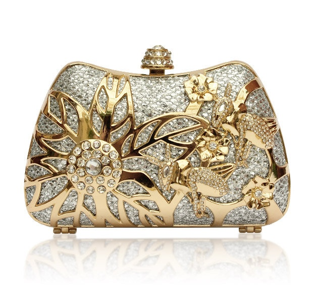 Spring Bloom Crystal Clutch - Kate Ketzal - Beautiful Wedding Jewelry & Adornments