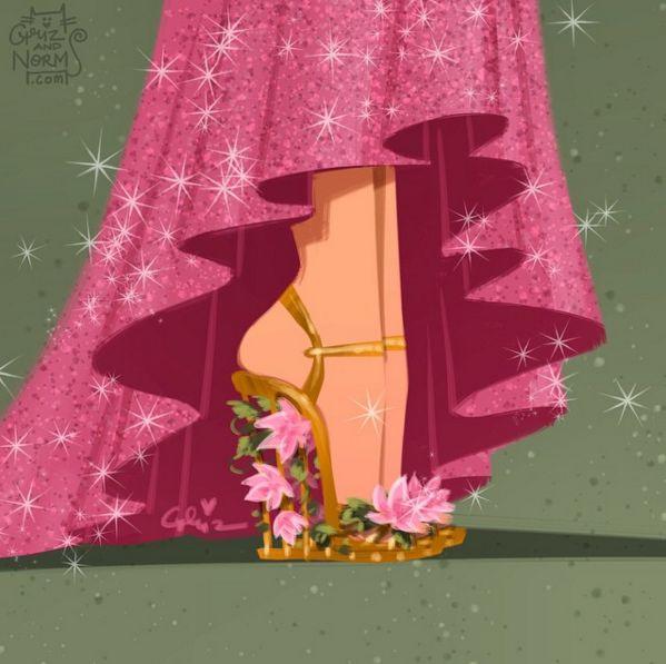 Não é à toa que Giselle passou boa parte da vida Encantada. Quero dizer… Dolce & Gabbana | Estes designers reinventaram os sapatos das princesas da Disney e eles são maravilhosos