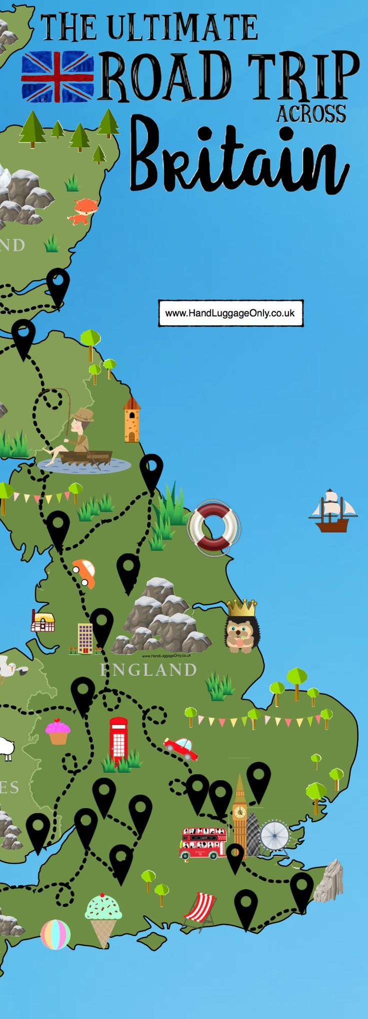A road trip is an incredible way to see a country especially, the truly stunning, Great Britain! One of the best things about our wonderful country is the vast