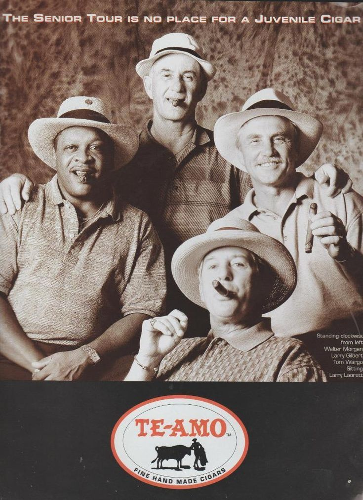 Golf PGA Senior Tour Group Tom Wargo Champion Te-Amo Cigar Print Ad 1995 Rare
