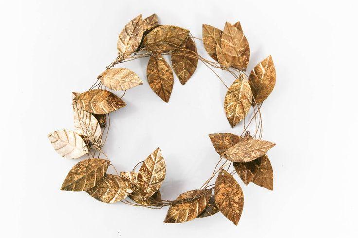 Wire Leaf Garland $12