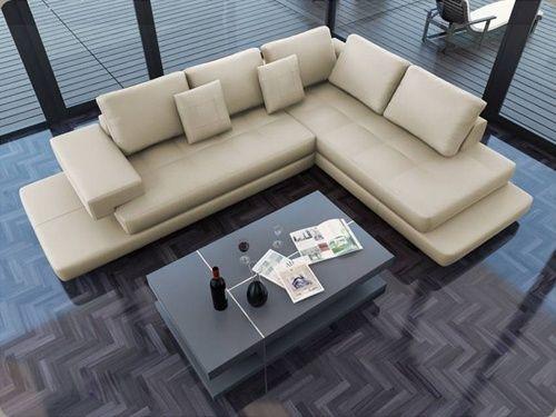 Cream Leather Sofa - Cheap Leather Sofas | DefySupply