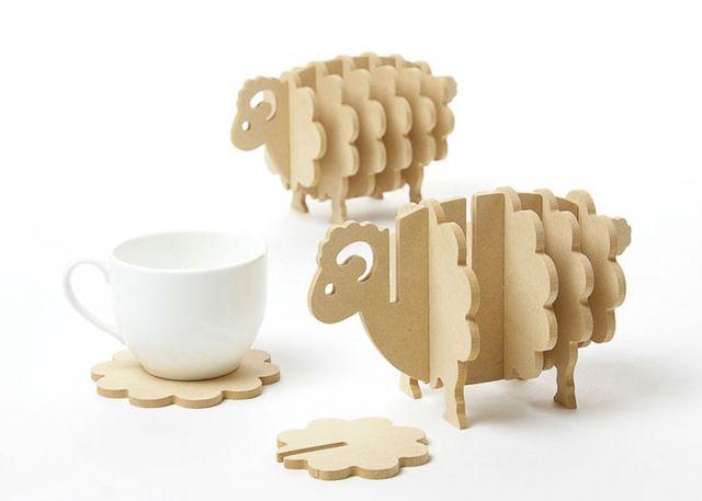 Non-slip Деревянные подставки творческий Место мат/офисная техника кофейная чашка Коврик Домашнего Декора ПОДЕЛКИ ручной работы coaster простой животные формы