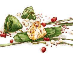 粽子 sticky rice balls with leaves