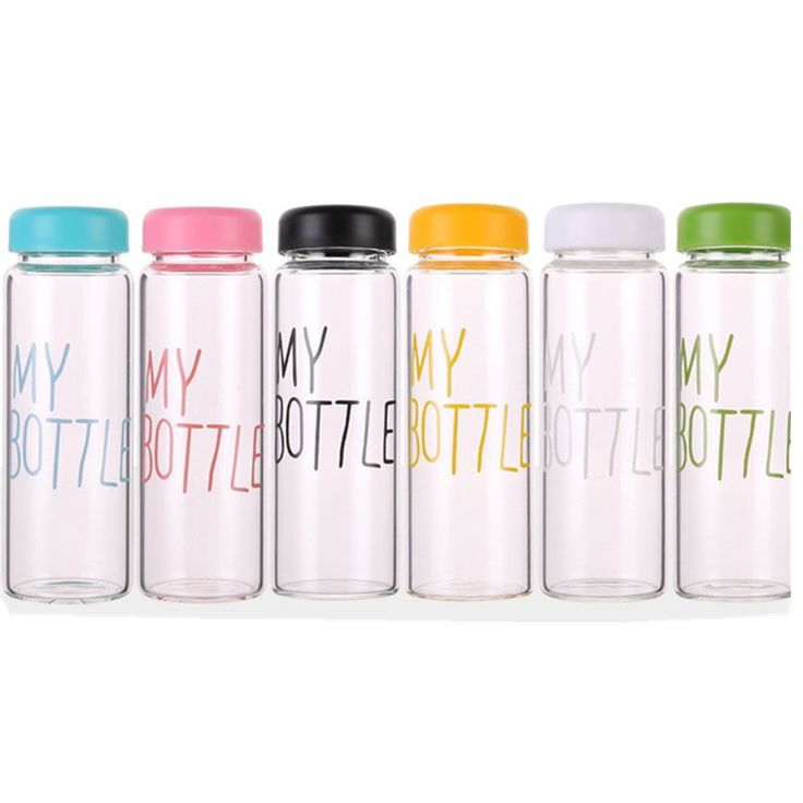 My Bottle 500 ml Fashion Sport Fruit Lemon Juice Bottle Clear and Frosted Plastic Water Bottle For Best Gift