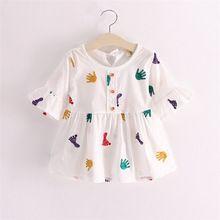Ropa de bebé Niña Vestido de Verano 2016 Nuevos Niños Vestidos para Niñas Casual Manga Corta Infantil de Princesa Dress Niños…