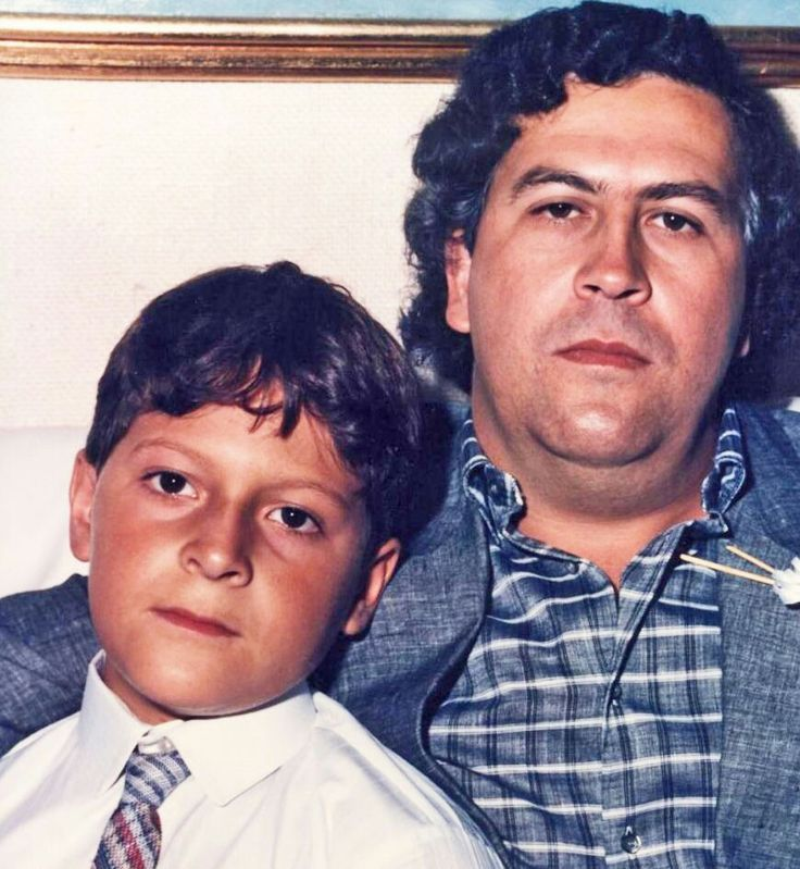 Pablo Emilio Escobar Gaviria and his son Sebastian Marroquin Escobar
