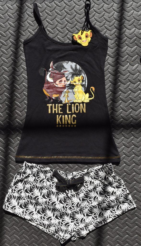 PRIMARK LION KING DISNEY PJ SET T SHIRT & SHORTS SIMBA PYJAMAS UK Sizes 6-20 NEW