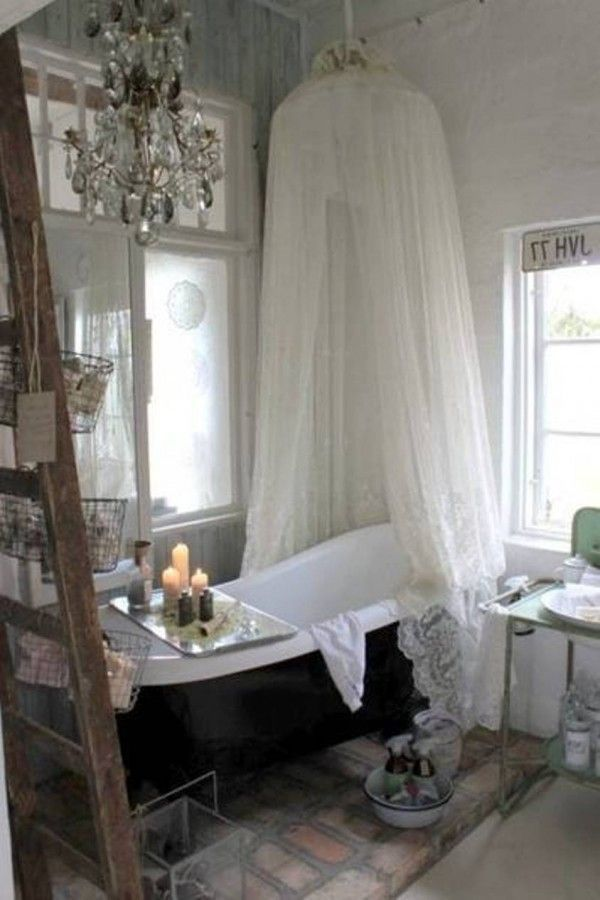 598 best shabby chic images on pinterest home ideas for for Romantic bathroom designs
