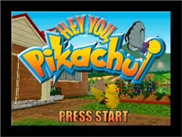 Title screen of Hey You, Pikachu on the Nintendo N64.
