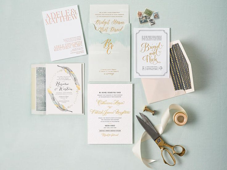 Fabulous Gold Foil Invitations  | TheKnot.com