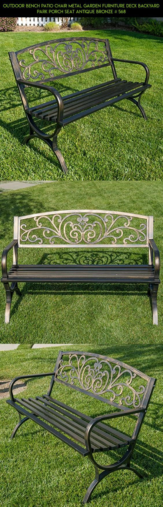How to make seat cushions for dining chairs moreover white resin - Outdoor Bench Patio Chair Metal Garden Furniture Deck Backyard Park Porch Seat Antique Bronze 568