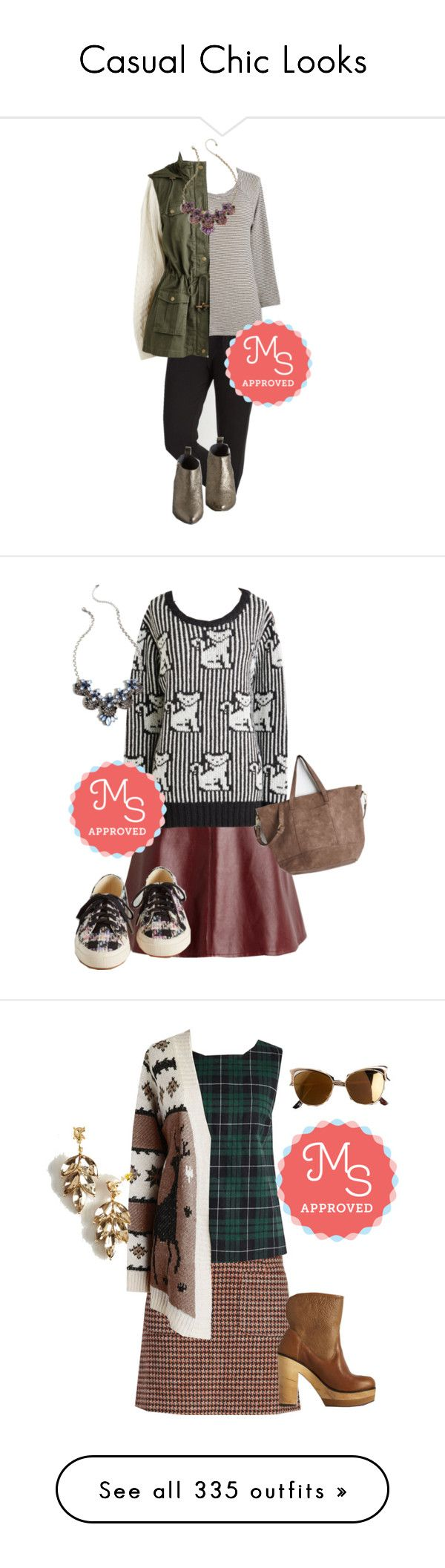 """Casual Chic Looks"" by modcloth ❤ liked on Polyvore featuring moda, Seychelles, comfy, modcloth, modstylist, Hostess, outfit, KLING, Quay y Fall"
