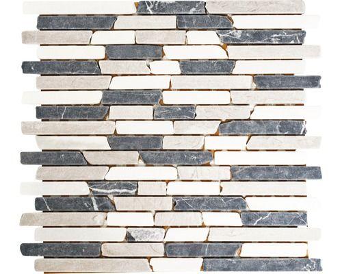 Natuursteenmozaïek mos brick 1125 305x325 cm beige grijs wit kopen