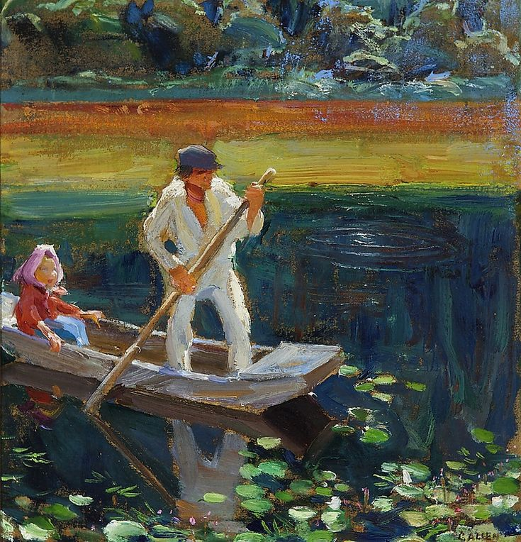 The Boat - Akseli Gallen-Kallela
