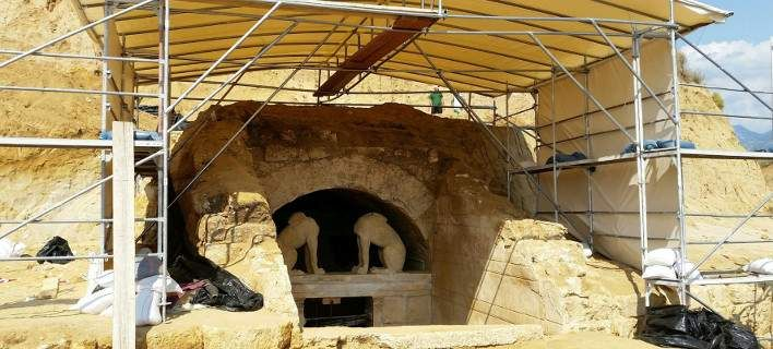Νέα στοιχεία για την Αμφίπολη -Η μεγαλοπρεπής είσοδος για τον νεκρό [εικόνα]