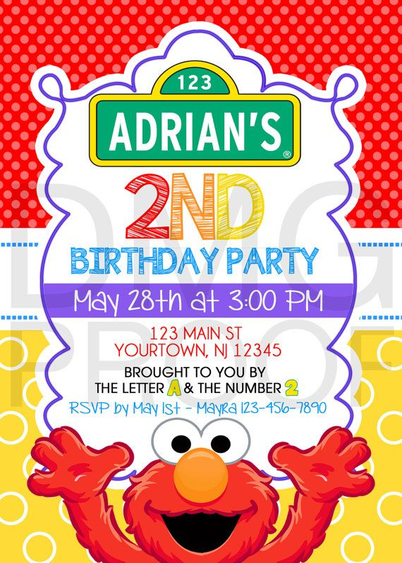 Sesame Street Elmo or Abby Birthday Download by DolceMeeyahDesigns